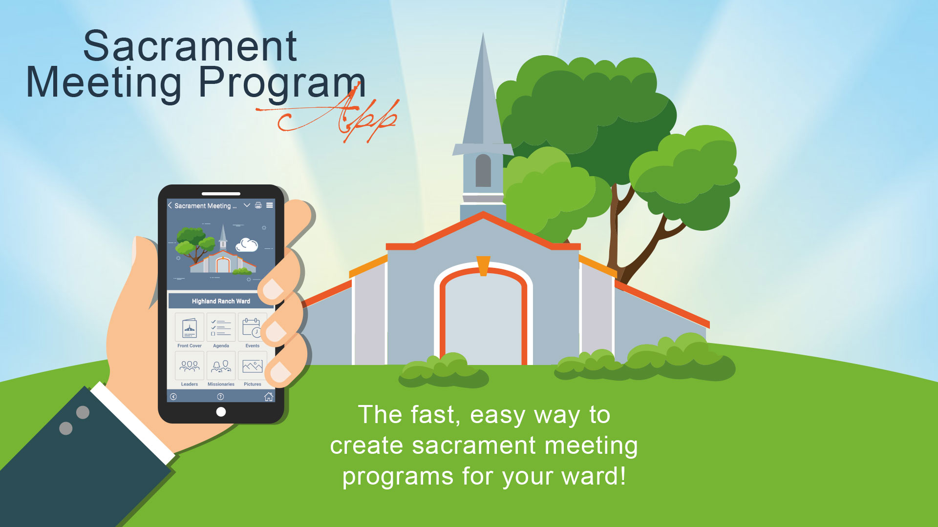 We can save time, money and trees by using the digital Sacrament Meeting Program app!